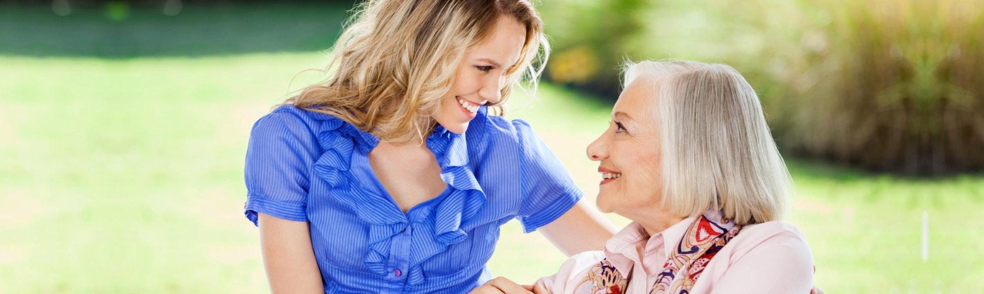 elder with daughter